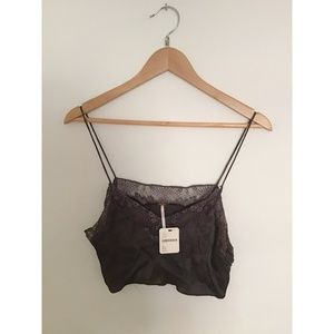 Free People Sweet Carolina Cami • Carbon Grey • XS